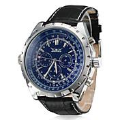 Hombre Reloj de Vestir El reloj mecánico Cuerda Automática Calendario Piel Banda De Lujo Negro