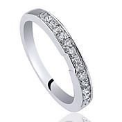 mujeres dedo derecho de ley 925 anillo de banda de plata con circón