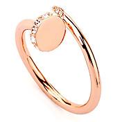 패션 여성의 투명 모조 다이아몬드 반지 (투명) (1 개)