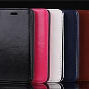 cuero de la PU caso de cuerpo completo con ranura para tarjetas y soporte para el iPhone 6 más (colores surtidos)