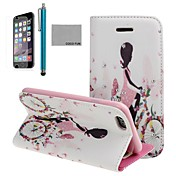 COCO FUN® Bike Girl Pattern PU Leather Full Body Case with Screen Protecter, Stand and Stylus for iPhone 6 6G 4.7