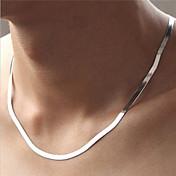 Mujer Collares de cadena Forma de Círculo Plata de ley Moda joyería de disfraz Joyas Para Fiesta Diario Casual Deportes