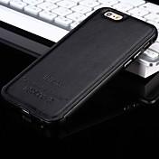아이폰 7 플러스 아이폰 5 / 5S에 대한 새로운 다시 고급 가죽과 금속 프레임 전화 케이스