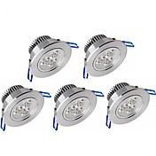 Ywxlight® 5pcs 3w 300-350lm apoyo dimmable llevó luces de panel led luces de techo