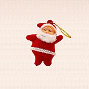 6PCS 미니 산타 클로스 펜던트 크리스마스 트리 장식 겨울 크리스마스 트리 매달려 장식