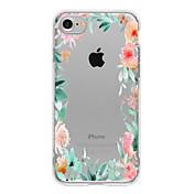 용 아이폰7케이스 / 아이폰7플러스 케이스 / 아이폰6케이스 패턴 케이스 뒷면 커버 케이스 꽃장식 소프트 TPU 용 Apple아이폰 7 플러스 / 아이폰 (7) / iPhone 6s Plus/6 Plus / iPhone 6s/6 / iPhone