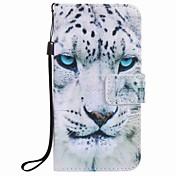 Para la caja blanca j5 j3 g360 g530 del teléfono de la PU de la pintura del leopardo de Samsung de la galaxia j7 j5 (2016)