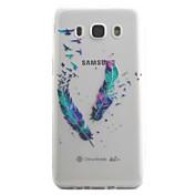 Para la galaxia j5 j3 de Samsung (2016) cubierta de la caja patrón de la pluma alta permeabilidad que pinta la caja material del teléfono del tpu