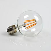 E26/E27 LED 글로브 전구 G80 8 COB 800 lm 따뜻한 화이트 밝기조절가능 AC 220-240 AC 110-130 V 1개