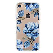 Para iPhone X iPhone 8 iPhone 7 iPhone 7 Plus iPhone 6 Carcasa Funda Ultrafina Diseños Cubierta Trasera Funda Flor Suave TPU para Apple