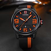 NAVIFORCE 남성 스포츠 시계 밀리터리 시계 패션 시계 손목 시계 캐쥬얼 시계 일본어 석영 달력 큰 다이얼 실리콘 밴드 멋진 캐쥬얼 창의적 럭셔리 우아한 블랙