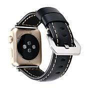 Reloj de la venda para el reloj de la manzana series1 2 cuero genuino correa clásica de la hebilla 38m m
