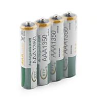 4 x 1350mAh BTY Ni-MH AAA 1.2V Genopladeligt batteri