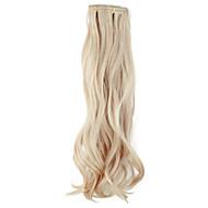 Høj kvalitet syntetisk 45 cm Clip-In Silky Wavy Hair Extension 6 farver at vælge