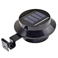 3-led solar powered goot deur omheining wandlamp buiten tuinverlichting