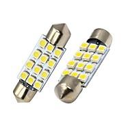 Festoon Carro Branco SMD 3528 5000-5500Luz Instrumento Luz de Leitura Luz de Matricula Luz de Sinal de Direcção Luz de Travão Luz de