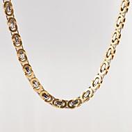 Ανδρικά Κολιέ με Αλυσίδα Κοσμήματα Τιτάνιο Ατσάλι Επιχρυσωμένο Μοναδικό Μοντέρνα κοστούμι κοστουμιών Κοσμήματα Για Καθημερινά Causal
