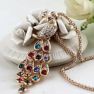 Žene Ogrlice s privjeskom Paun Kristal Umjetno drago kamenje Legura Elegantno Šarene Jewelry Za Party Dnevno Kauzalni