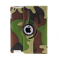 Kinston 360 graden draaibare Camouflage Pattern PU Leather Full Body Case met standaard voor iPad 2/3/4