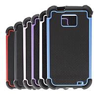 2-σε-1 σχεδίαση μοτίβο εξάγωνο σκληρή θήκη με σιλικόνη εσώφυλλο για i9100 Samsung Galaxy S2