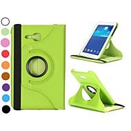 360 roterende elastische band staan auto slaap / waak-lederen tas voor Samsung Galaxy Tab 3 lite t110 (verschillende kleuren)