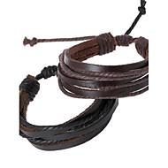 Heren Lederen armbanden Uniek ontwerp Modieus Met de hand gemaakt PERSGepersonaliseerd Kostuum juwelen Leder Sieraden Sieraden Voor
