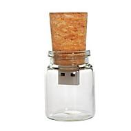 8 gb glasflaske med kork usb flash pen drev (gennemsigtig)