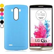 στερεό πλέγμα μοτίβο χρώμα τζελ σχεδιασμό TPU πίσω κάλυψη περίπτωσης για το LG G3 d850 (διάφορα χρώματα)