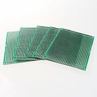 διπλής όψης πλακέτα 2,54 χιλιοστά γήπεδο 5 x 7 protoboard - πράσινο (5pcs)