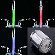 stílusos vízsugarat színes világító led csaptelep fény (műanyag, króm)