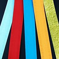 5PCS 2.5x51cm 짧은 슬림 한 모양의 꽃 꽃잎 관상 주름을 달기 종이 세트