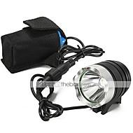 Φακοί LED Φακοί Χειρός LED 2200 Lumens 3 Τρόπος Cree XM-L U2 Επαναφορτιζόμενο Αδιάβροχη για Κατασκήνωση/Πεζοπορία/Εξερεύνηση Σπηλαίων