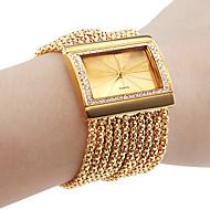 personlige fashionable dameur armbånd guld diamant sag legering band