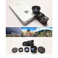 KLW 3 in 1 groothoek lens / macro lens / 180 fish eye lens / kit set voor iPhone 5/6 / ipad en anderen