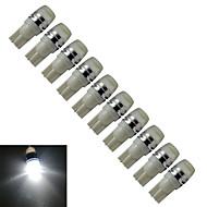 Jiawen® 10szt t10 0.5w 40-90lm 6000-6500k chłodny biały lampa do wypalania bocznego oświetlenie samochodowe (dc 12v)