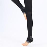 Dame Uden ærmer Komprimering letvægtsmateriale Sokker Kompressionssokker for Yoga Træning & Fitness Fritidssport Løb Elastin Nylon Sort