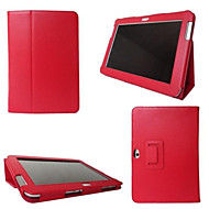 slimme folio pu lederen stand case cover voor Samsung Galaxy tabtab 2 10.1 (P5100 / P5110) tablet multi-color