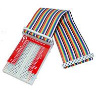 bringebær pai 3 GPIO utvidet DIY kit (40p + GPIO v2 + 400 rainbow linje hull brød bord)