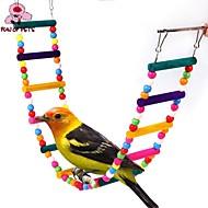 Πουλί Κούρνιες & Σκάλες Πλαστικό Ξύλο Πολύχρωμο