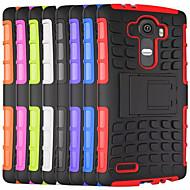 Voor LG hoesje Schokbestendig / met standaard hoesje Achterkantje hoesje Pantser Hard PC LGLG G4 / LG G4 Stylus / LS770 / LG G3 / LG G10