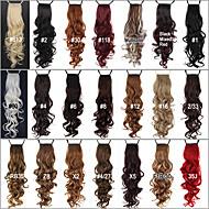 리본 포니 테일의 헤어 스타일 우수한 품질 합성 24 인치 긴 꼬부라 진 클립 - 20 색상 선택 가능
