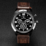 V6 Herren Armbanduhr Quartz Japanischer Quartz Leder Band Schwarz Braun Khaki Weiß Schwarz Braun Khaki Schwarz/Blau
