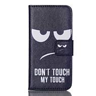 wit oog patroon impasse flip case voor de iPod Touch 5/6