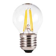 E26/E27 LED-bollampen G60 4 COB 350-550 lm Warm wit AC 220-240 V 5 stuks