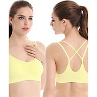Αθλητικά Σουτιέν Αμάνικη Μπλούζα Επίπεδα Βάση Μπολύζες Γυναικεία Αναπνέει Γρήγορο Στέγνωμα Υψηλή Διαπνοή (>15,001g) Συμπίεση γιαΓιόγκα