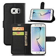 Για Samsung Galaxy Θήκη Θήκη καρτών / με βάση στήριξης / Ανοιγόμενη / Μαγνητική tok Πλήρης κάλυψη tok Μονόχρωμη Συνθετικό δέρμα Samsung