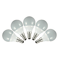 E14 E26/E27 LED-pallolamput G60 5 SMD 2835 200 lm Lämmin valkoinen Kylmä valkoinen AC 220-240 V 5 kpl