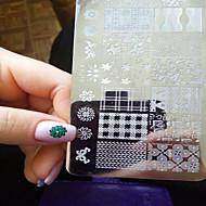 1pcs nieuwe nail art stempelen platen diy beeldsjablonen hulpmiddelen nagel schoonheid xy-j11-16