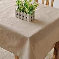 Dörtgen Desenli Masa Örtüleri , Linen / Pamuk Karışımı Malzeme Tablo Dceoration