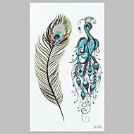 divat tetoválás pávatoll vízálló tetoválás matrica